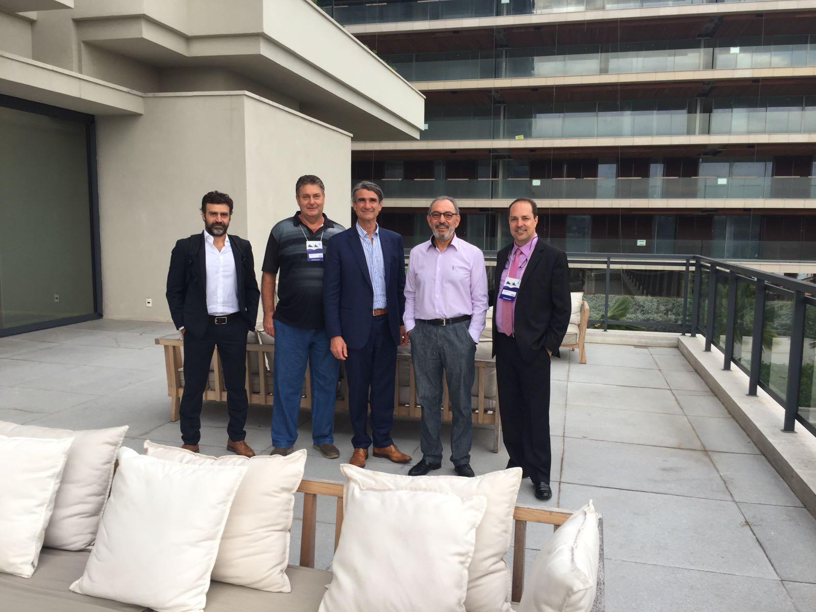 Diretoria da ALCJB e o Dr. David Dejour no Hotel Grand Hyatt Rio de Janeiro